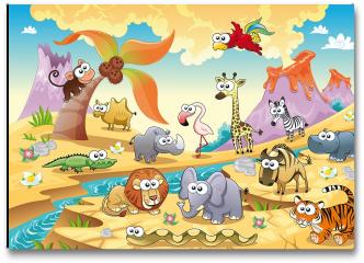 Plakat - Zwierzęta sawanny