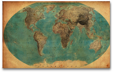 Plakat - Zabytkowa mapa