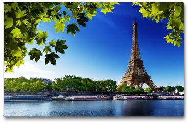 Plakat - Sekwana i Wieża Eiffla w Paryżu