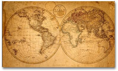 Plakat - Stara mapa 1799