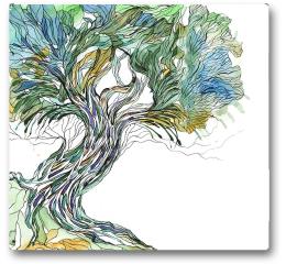 Plakat - Stare drzewo