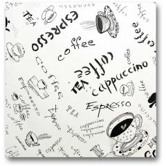 Plakat - Szkic kawy