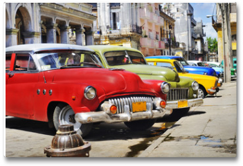 Plakat - Colorful Havana cars