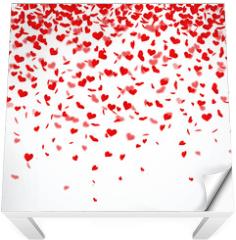 Naklejka na stół i biurko - Herzkonfettiregen