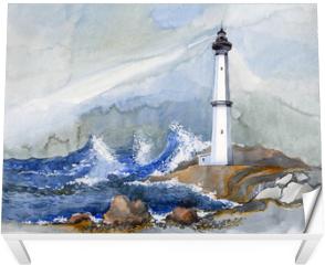Naklejka na stół i biurko - lighthouse