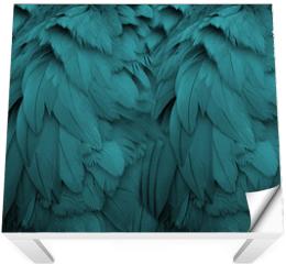 Naklejka na stół i biurko - Aqua Feathers