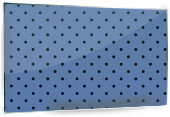 Panel szklany do kuchni - wallpaper pattern black dots in pantone blue serenity color background