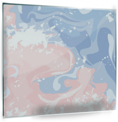 Panel szklany do kuchni - Marble Background - Abstract Texture with Soft Pastels Colors