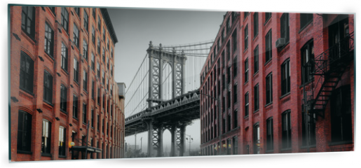 Panel szklany do kuchni - Manhattan Bridge from Washington Street, Brooklyn