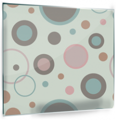 Panel szklany do kuchni - Seamless vector decorative background with circles, buttons and polka dots. Print. Cloth design, wallpaper.