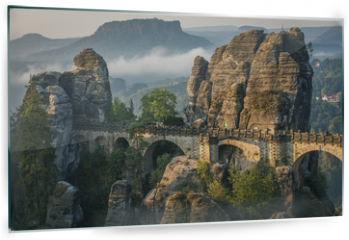 Panel szklany do kuchni - The Bastei bridge, Saxon Switzerland National Park, Germany