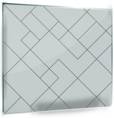 Panel szklany do kuchni - Geometric simple black and white minimalistic pattern, diagonal  thin lines. Can be used as wallpaper, background or texture.