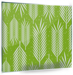 Panel szklany do kuchni - Seamless pattern with palm leaves ornament