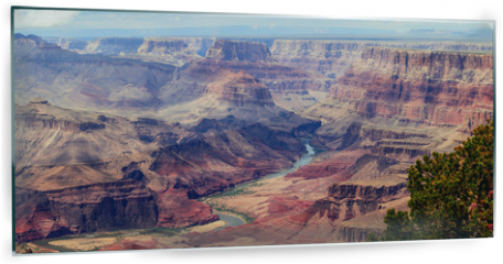 Panel szklany do kuchni - Panorama image of Colorado river through Grand Canyon