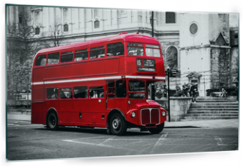 Panel szklany do kuchni - London's iconic double decker bus.