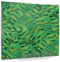 Panel szklany do kuchni - Seamless pattern with leaves.