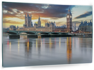 Panel szklany do kuchni - London - Big ben and houses of parliament, UK