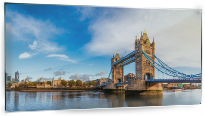 Panel szklany do kuchni - London cityscape panorama with River Thames Tower Bridge and Tower of London in the morning light