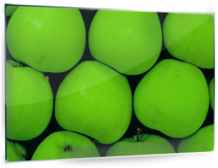 Panel szklany do kuchni - green apples