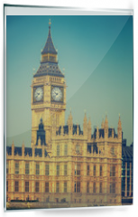 Panel szklany do kuchni - Big Ben and houses of parliament in London, UK