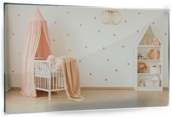 Panel szklany do kuchni - Spacious baby's bedroom interior