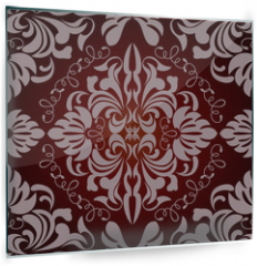 Panel szklany do kuchni - Abstract seamless floral pattern