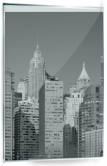 Panel szklany do kuchni - Black and white picture of New York City modern skyline, USA.