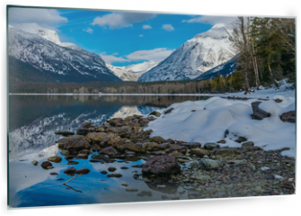 Panel szklany do kuchni - Mount Cannon to the Right and Mount Vaugh to the Left, in Glacier National Park.