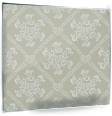 Panel szklany do kuchni - Seamless White Floral Pattern
