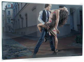 Panel szklany do kuchni - Tango on the street