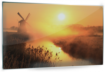Panel szklany do kuchni - Windmill sunrise