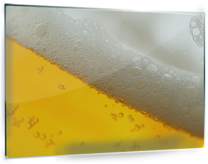 Panel szklany do kuchni - beer with froth