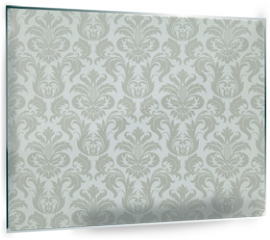 Panel szklany do kuchni - Vector seamless floral damask pattern