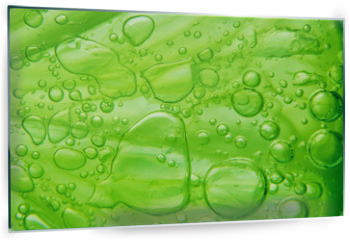 Panel szklany do kuchni - Lime with bubbles on white