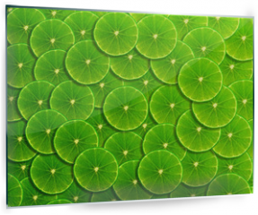 Panel szklany do kuchni - Slice of fresh lemon background