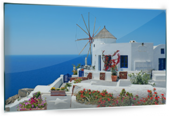 Panel szklany do kuchni - Traditional architecture of Oia village at Santorini island in G