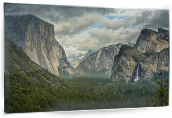 Panel szklany do kuchni - Stormy Clouds over Tunnel View in Yosemite