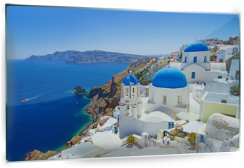 Panel szklany do kuchni - White architecture of Oia village on Santorini island, Greece