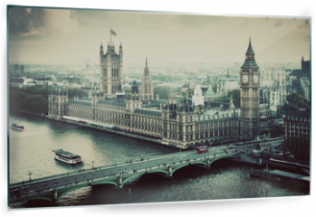 Obraz na szkle - London, the UK. Big Ben, the Palace of Westminster. Vintage