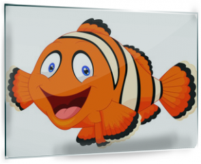 Panel szklany do kuchni - Cute clown fish cartoon