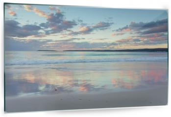 Panel szklany do kuchni - Pretty pastel dawn sunrise at Hyams Beach NSW Australia