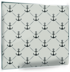 Panel szklany do kuchni - Seamless vector pattern of anchor shape and line