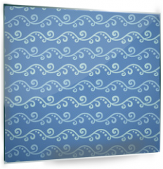 Panel szklany do kuchni - Wave different seamless patterns (tiling)