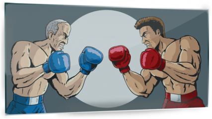 Panel szklany do kuchni - Young and old fight