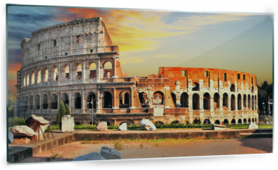 Panel szklany do kuchni - great Colosseum on sunset, Rome