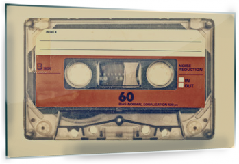 Panel szklany do kuchni - Retro styled image of an old compact cassette