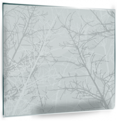 Panel szklany do kuchni - Branches texture pattern. Soft background.