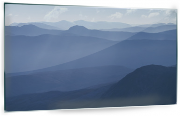 Panel szklany do kuchni - Cold light of day over the Scottish Highlands.