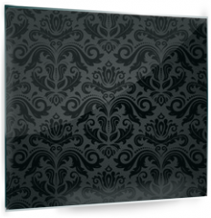 Panel szklany do kuchni - Damask Seamless Vector Pattern