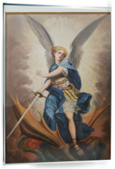 Panel szklany do kuchni - Tel Aviv - paint of archangel Michael from st. Peters church